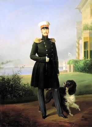 TSAR NIKOLAJ I av Ryssland målat av Egor Boatman 1849