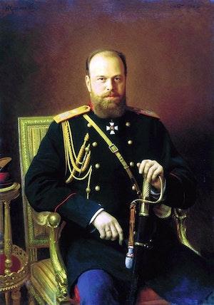 TSAR ALEXANDER III av RYSSLAND 1886 av IVAN KRAMSKOI