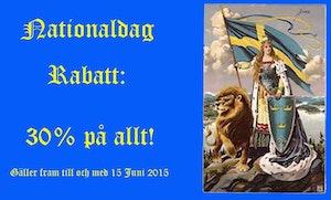NATIONALDAG RABATT: 30% PÅ ALLT