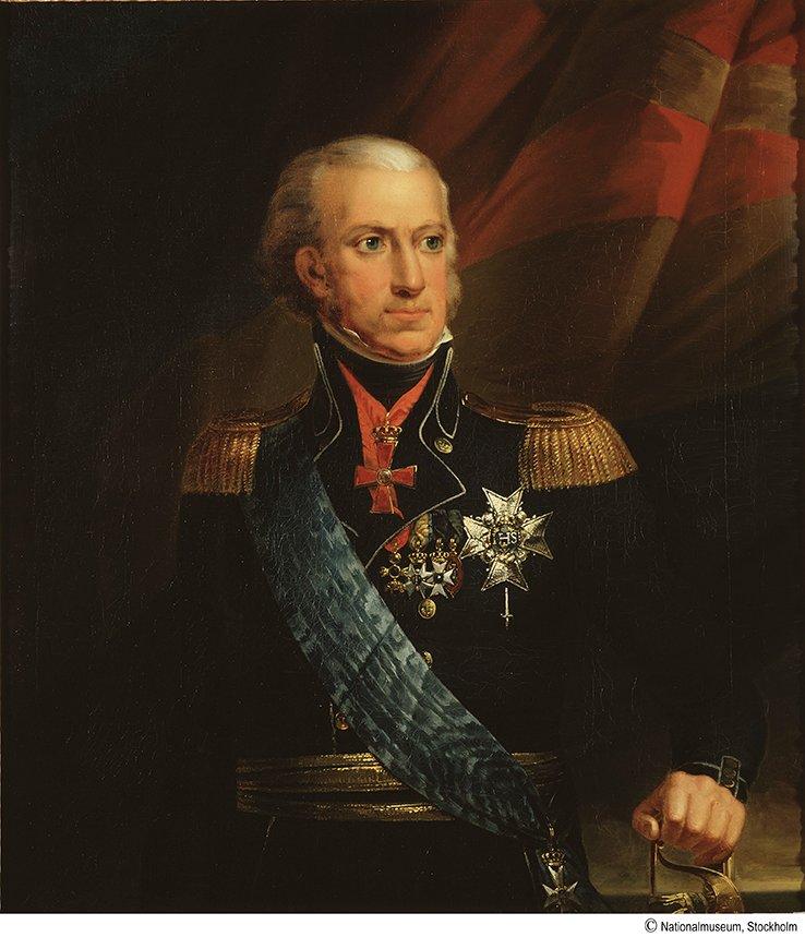 KARL XIII I AMIRALSUNIFORM av Carl von Breda