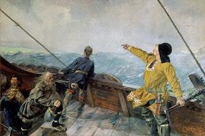 LEIF ERIKSON UPPTÄCKER AMERIKA av Christian Krogh