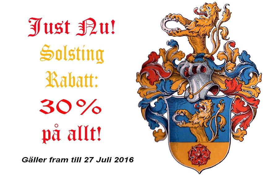 SOLSTING RABATT: 30% PÅ ALLT!