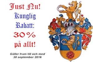 KUNGLIG RABATT 30% PÅ ALLT!