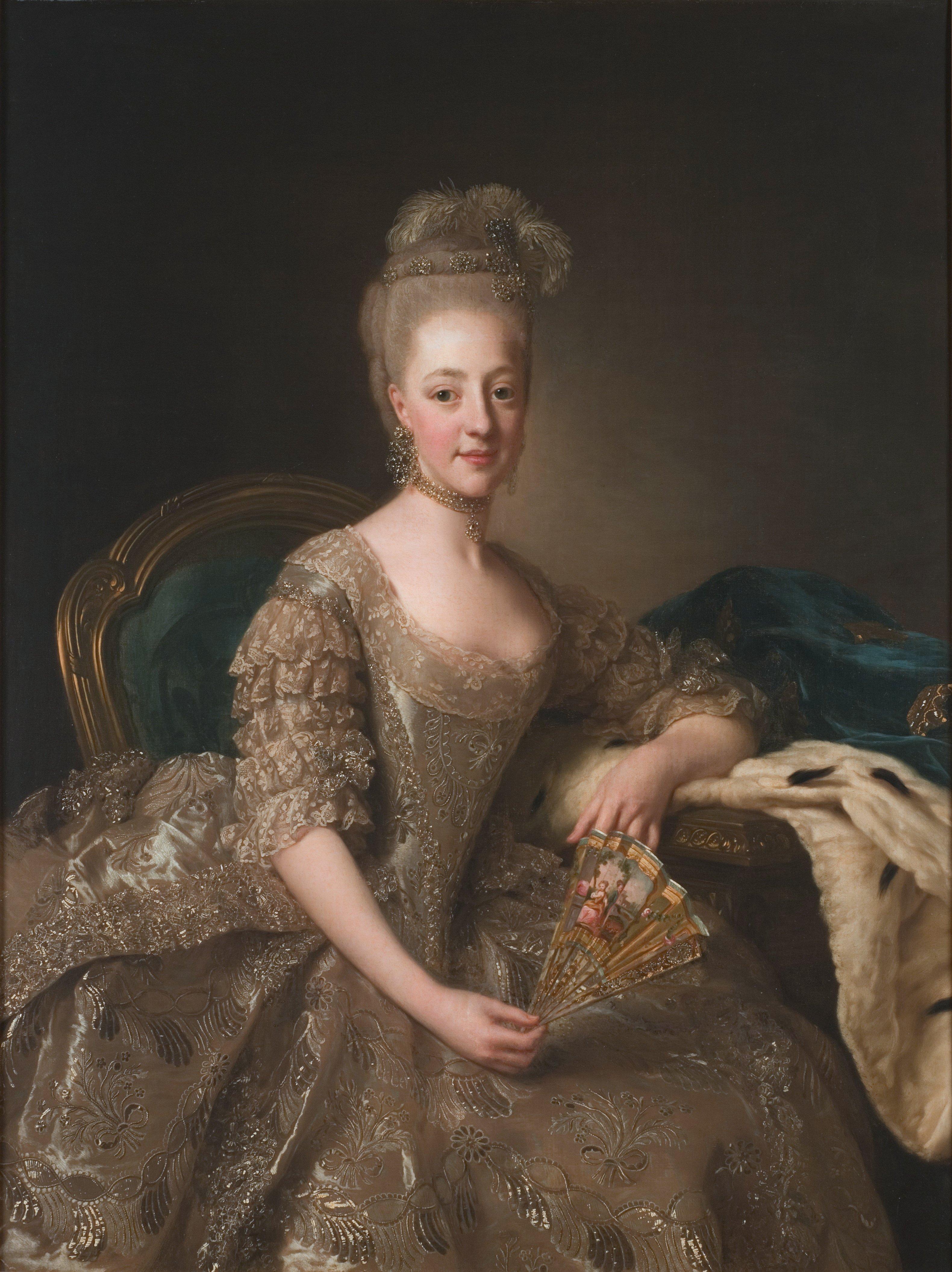 Hedvig Elisabeth Charlotta av Holstein-Gottorp av Alexander Roslin