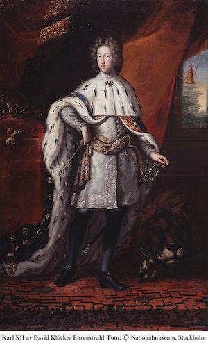 KARL XII I KRÖNINGSSKRUD av DAVID KLÖCKER EHRENSTRAHL