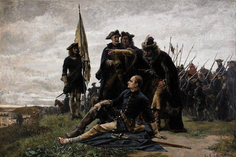 KARL XII OCH  MAZEPA EFTER POLTAVA av GUSTAF CEDERSTRÖM