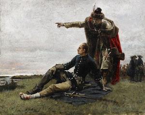 KARL XII &  DEN UKRAINSKE KOSACKLEDAREN MAZEPA EFTER POLTAVA av GUSTAF CEDERSTRÖM 1989