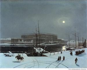 VINTERVY MOT STOCKHOLMS SLOTT av Carl Stefan Bennet