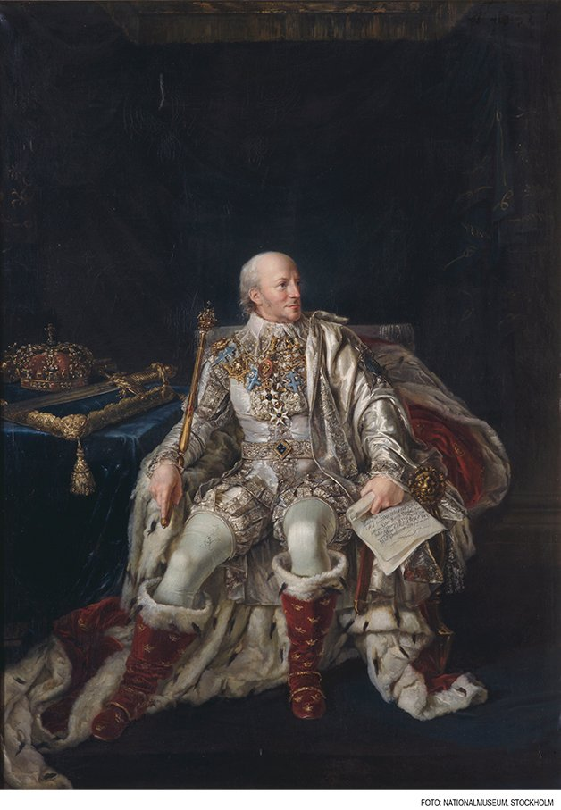 KARL XIII SOM ÄLDRE 1813 av PER KRAFFT DEN YNGRE