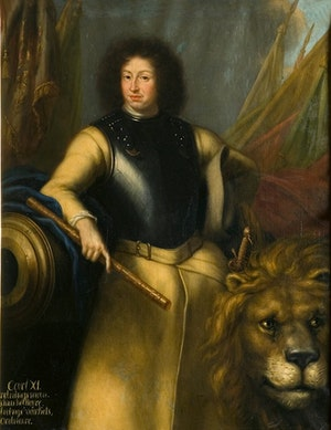 KARL XI MED SVENSKA LEJONET av DAVID KLÖCKER EHRENSTRAHL