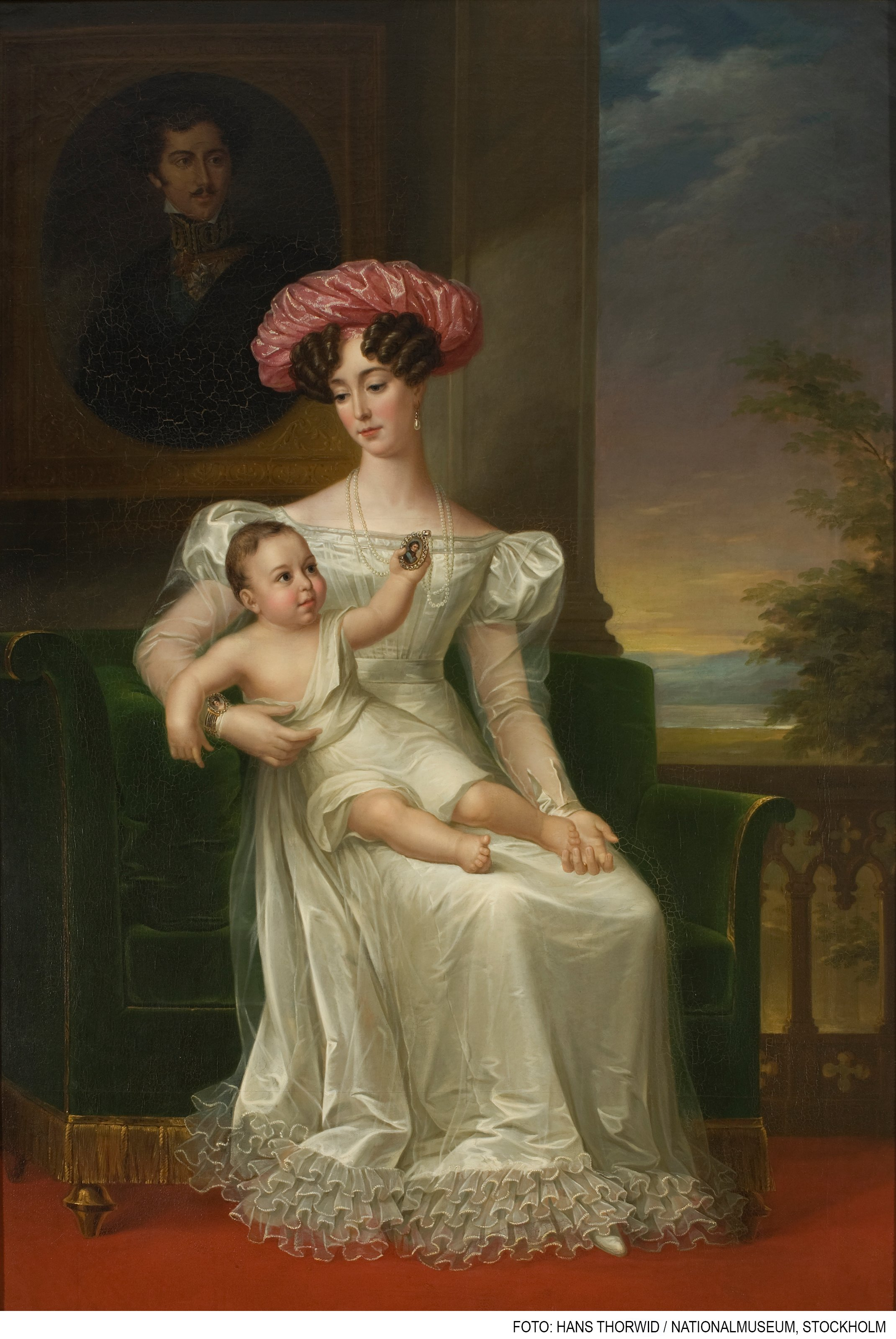 DROTTNING JOSEFINA AV LEUCHTENBERG MED KARL XV av FREDRIC WESTIN