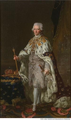 GUSTAV III I KRÖNINGSSKRUD av LORENS PASCH D.Y.