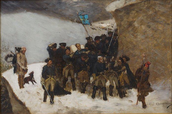 LIKFÄRDEN 1877 (2) av GUSTAF CEDERSTRÖM