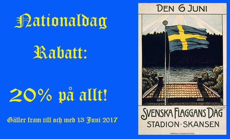 NATIONALDAG RABATT 20% PÅ ALLT!