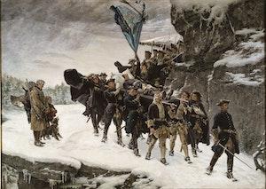 KARL XII:s LIKFÄRD 1884 av Gustaf Cederström OLJETRYCK