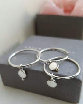PENOLOPE DOTS SILVER RING