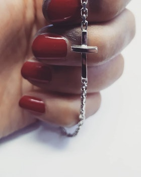 THICK CROSS BRACELET
