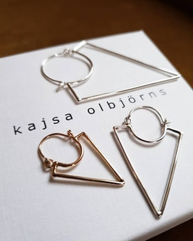 VILJA EARRING SILVER - SINGLE