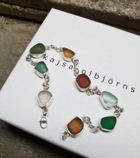 BEACH GLASS BRACELET - SOLD