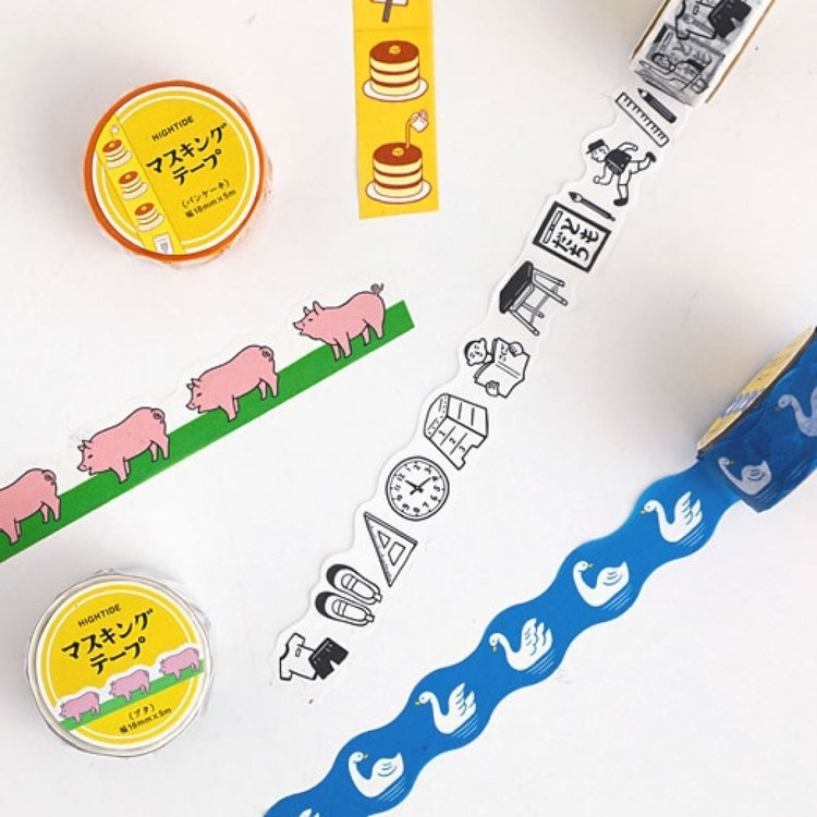 Hightide Retro Masking Tape Pig