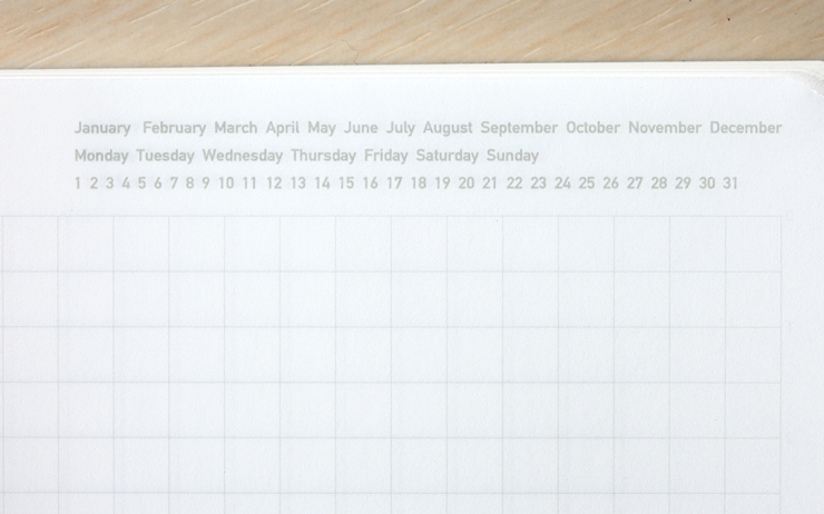 Stálogy 018 1/2 Year Notebook [A6] Svart