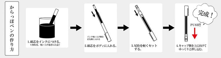 Kuretake Karappo Empty Brush Pen 5-pack