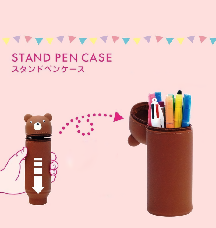 Lihit Lab Smart Fit PuniLabo Stand Pen Case Penguin