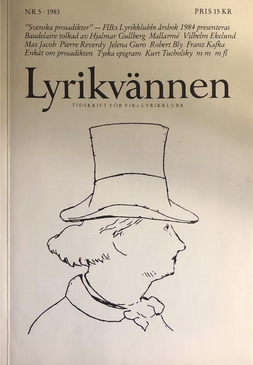 Lyrikvännen, nr. 5 1983