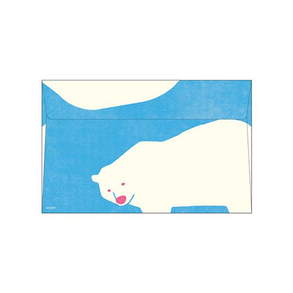 Midori Polar Bear Envelope (8-pack)