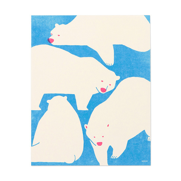 Midori Writing Paper Bear (24-pack)
