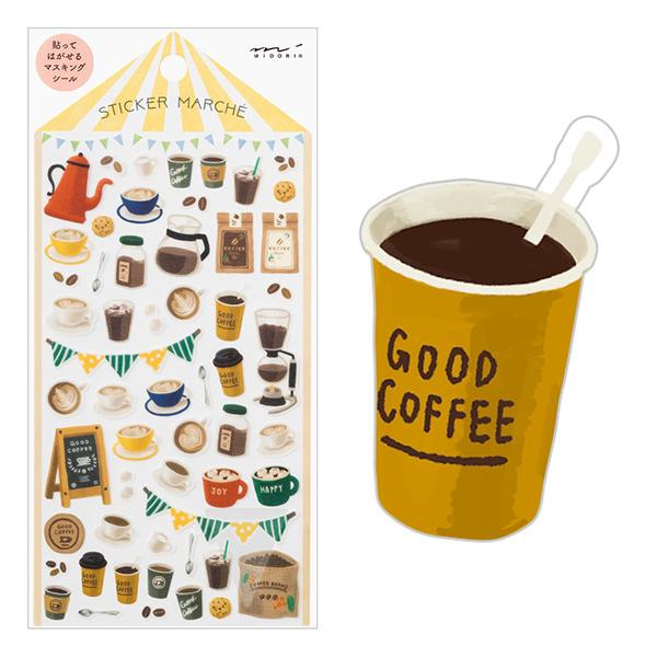 Midori Sticker Marché Coffee