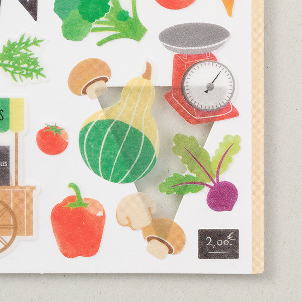 Midori Sticker Marché Vegetable