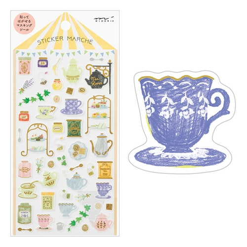 Midori Sticker Marché Tea