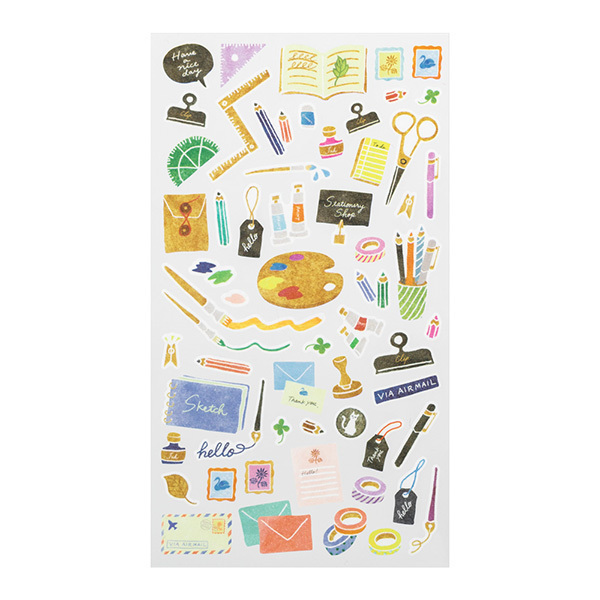 Midori Sticker Marché Stationery