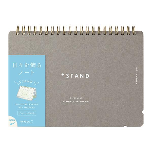 Midori + Stand Notebook [A5] Cross Grid