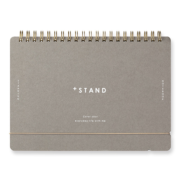 Midori + Stand Notebook [A5] Cross Grid framifrån