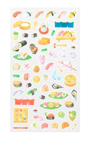 Midori Sticker Marché Sushi washiklistermärke