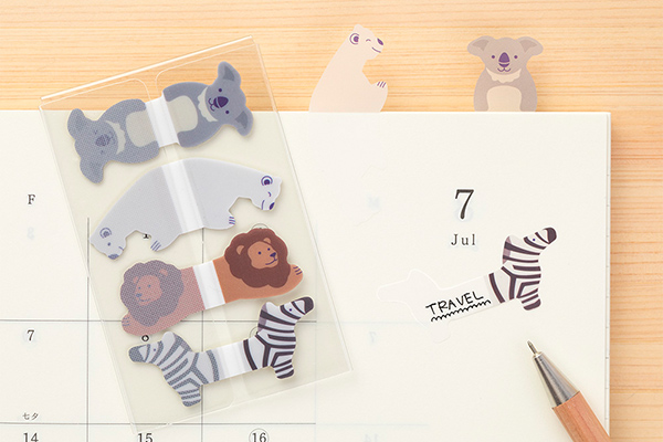 Midori Sticky Notes Animals