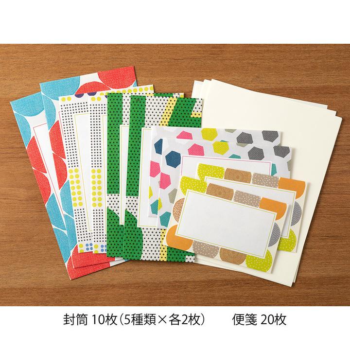 Midori Letterset Colorful Dots
