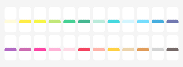 Midori 2020 Index Stickers Blank