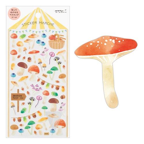 Midori Sticker Marché Mushroom