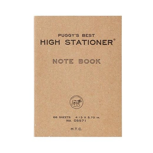 Hightide Puggy's Pocket Paperback Notebook