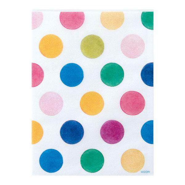 Midori Glassine Bag Watercolor Dots