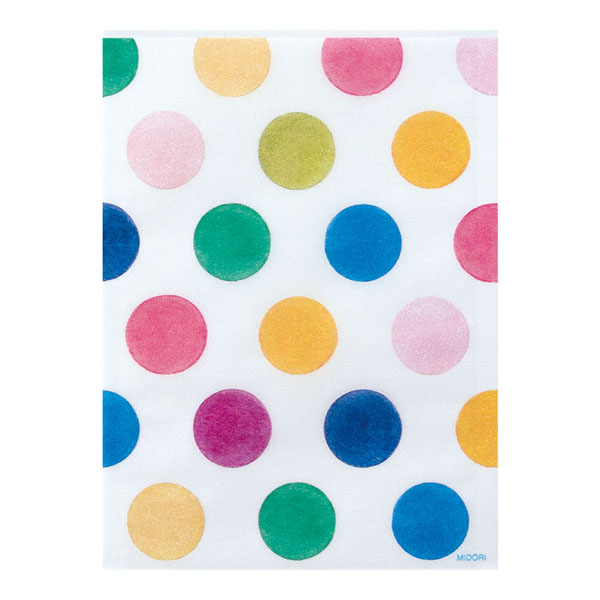 Midori Glassine Bag Watercolor Dots