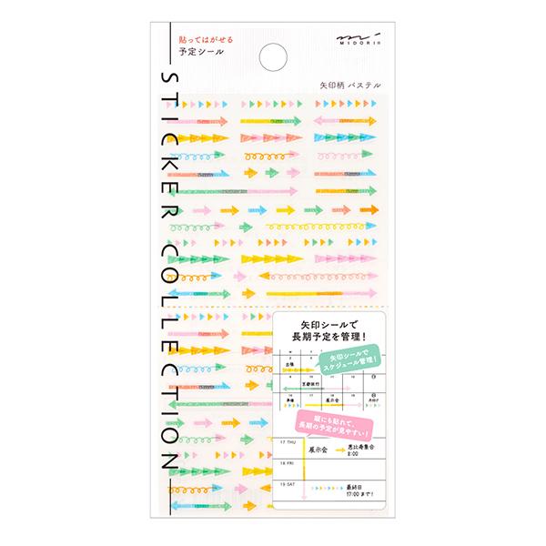 Midori 2020 Sticker Plan Arrow Pastel