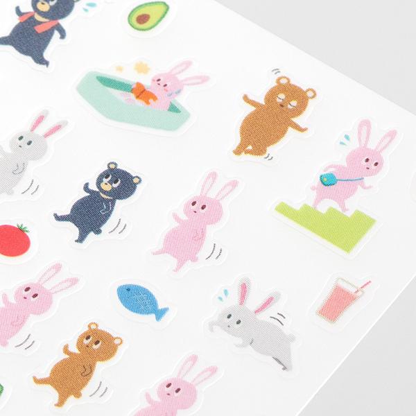 Midori Sticker Collection Diet Animals