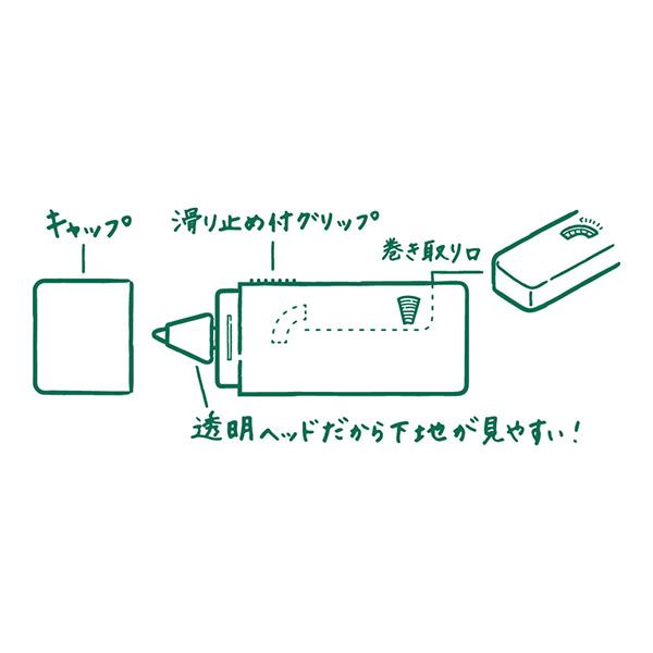Midori XS Correction Tape Svart