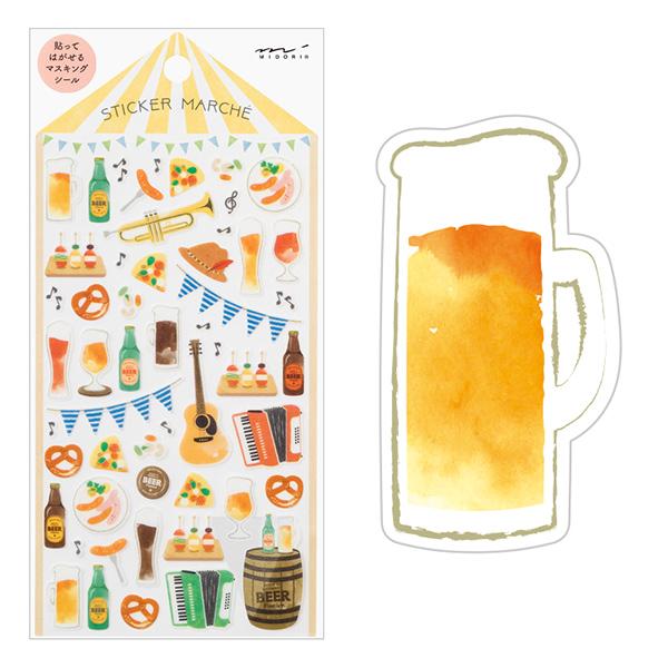 Midori Sticker Marché Beer