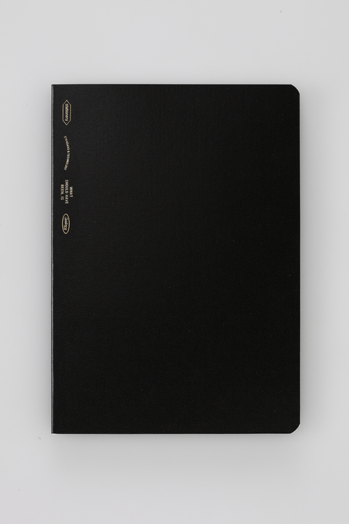 Stálogy 018 1/2 Year Notebook [B6] Svart