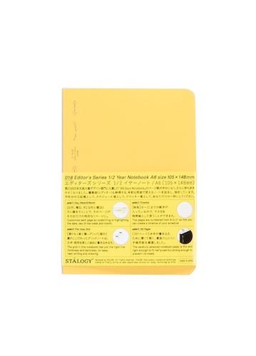 Stálogy 018 1/2 Year Notebook [A6] Gul